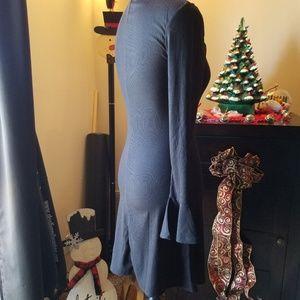 Hype Dresses - Hype ribbed cross v neck bell sleeve sweater dress